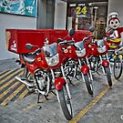Delivery Bikes by iamYUAN
