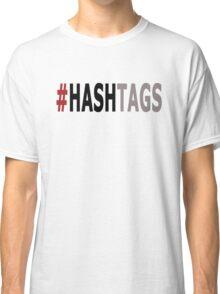 Twitter Hashtag (Black/Grey) Classic T-Shirt