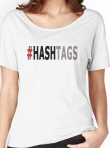 Twitter Hashtag (Black/Grey) Women's Relaxed Fit T-Shirt