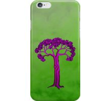 Purple tree on green iPhone Case/Skin