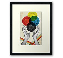 CMYK - the creation of retro Framed Print