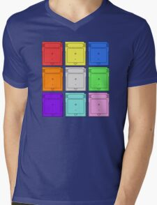 Gameboy Cartridge Pop Art Mens V-Neck T-Shirt