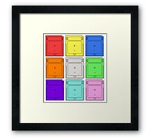 Gameboy Cartridge Pop Art Framed Print