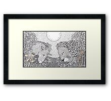 The Lion and the Unicorn Framed Print