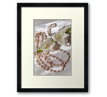 Pearls and flowers  Framed Print
