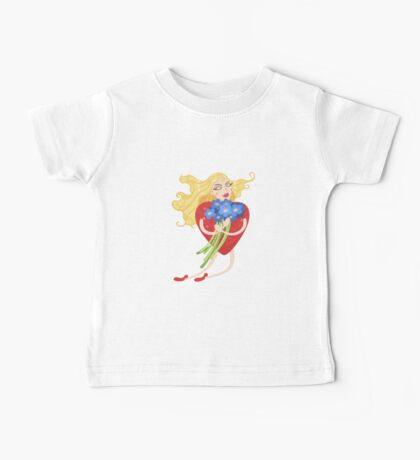 Woman with heart body flies with flowers in their hands Baby Tee