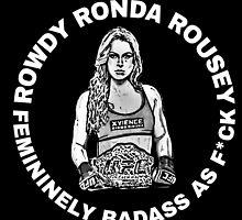 UFC Champion Ronda Rousey MMA WMMA ROWDY by ahoyhayley