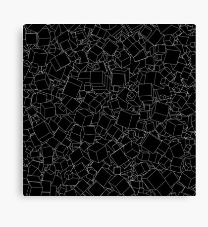 Cubic B&W inverted Canvas Print