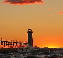 Manistee Lighthouse by Sonya Lynn Potts