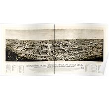 Panoramic Maps Panorama of the World's Fair St Louis 1904 Poster