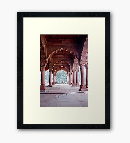 Arches Of The Red Fort Framed Print