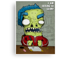 Trying To Lern! Canvas Print