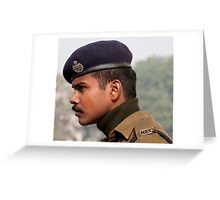 CISF On Guard Greeting Card