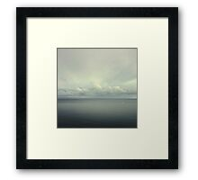 sea and sky Framed Print