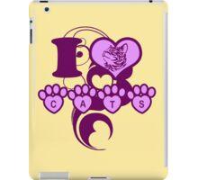 I love cats iPad Case/Skin