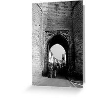 West Gate - Pedestrian Area  Greeting Card