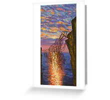 Sunset on cliff Greeting Card