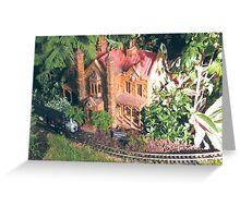 Model Trains, Model Buildings, New York Botanical Garden Train Show, Bronx,New York Greeting Card