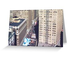 Aerial View, Macy's Thanksgiving Day Parade, New York Greeting Card
