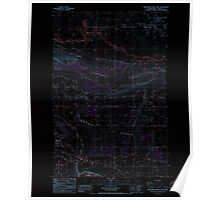 USGS Topo Map Washington State WA Frenchman Hills Lake 241223 1986 24000 Inverted Poster