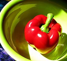 Red Bell Pepper Still Life by Lisa Diamond