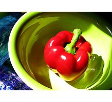 Red Bell Pepper Still Life Photographic Print