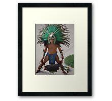Indian Drummer - Baterista Indígena Framed Print