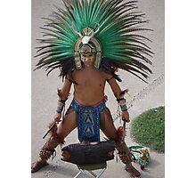 Indian Drummer - Baterista Indígena Photographic Print