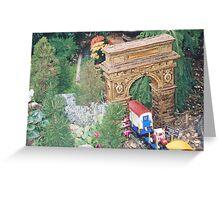 Model Washington Square Arch, Model Trains, New York Botanical Garden Train Show, Bronx, New York Greeting Card
