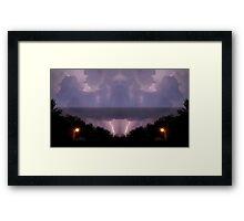 Lightning Art 16 Framed Print