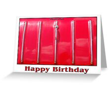 Happy Birthday - Red Car Greeting Card