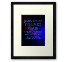 People = Music ?? Framed Print