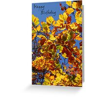 Happy Birthday - Autumn Greeting Card