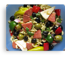 Antipasto Salad Canvas Print