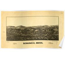 Panoramic Maps Hinsdale Mass Poster