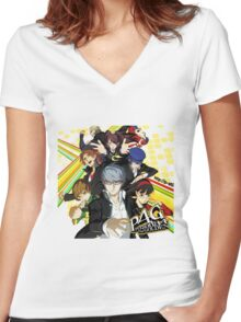 Persona 4 : The Golden Women's Fitted V-Neck T-Shirt