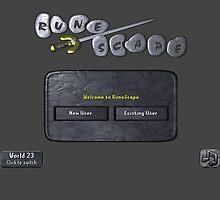 Runescape log in screen by LindasDesign