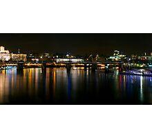 London skyline by night Photographic Print