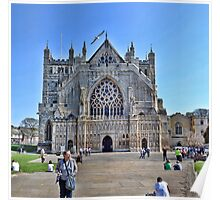 Exeter Cathedral Devon. UK Poster