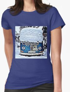 Snow top Christmas Womens Fitted T-Shirt
