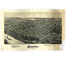 Panoramic Maps Donora Washington County Pennsylvania 1901 Poster