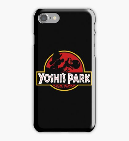 Yoshi's Park with baby Mario iPhone Case/Skin