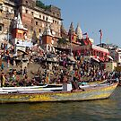 Sunday Bathing at Ahilyabai Ghat by SerenaB