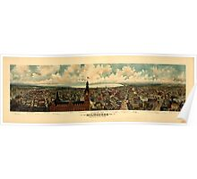 Panoramic Maps view of Milwaukee Wis Taken from City Hall tower The Gugler Lithographic Co Poster