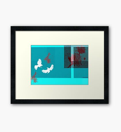 Killer birds Framed Print