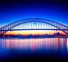 First Light-Sydney Harbour Bridge by Andrew  MCKENZIE