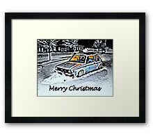 Rat look in the snow Framed Print