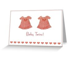 Baby girl twins Greeting Card