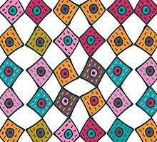 Moroccan Patchwork tiles - large by ballydrew