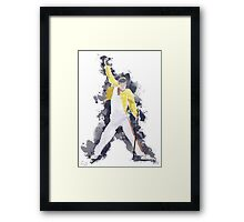 Freddie Mercury Splash Watercolor Framed Print